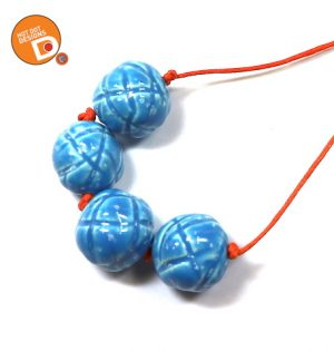 set of 4 ceramic handmade beads